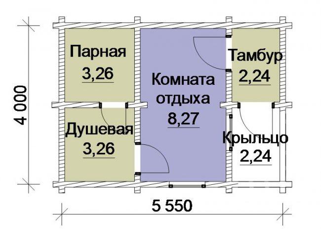 Проект бани-62