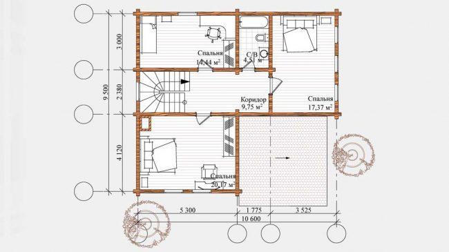 Проект дома №533