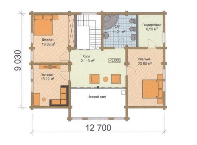 Проект дома №542