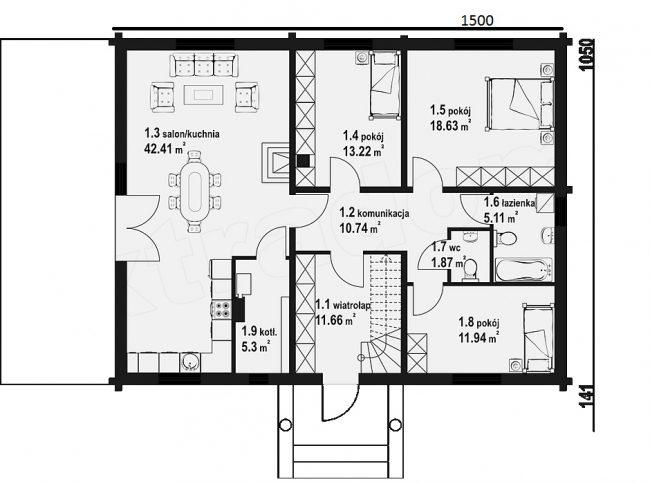 Проект дома №543