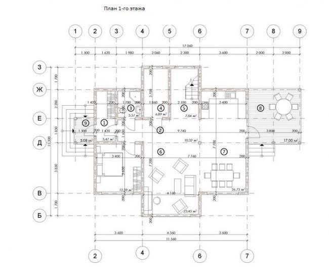 Проект дома №552