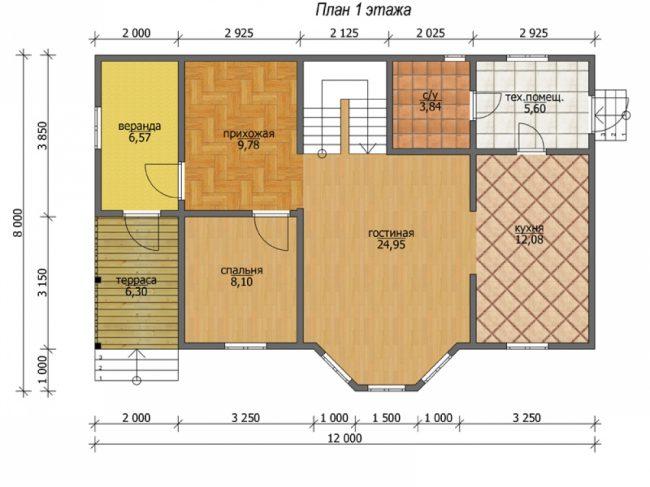 Проект дома №129