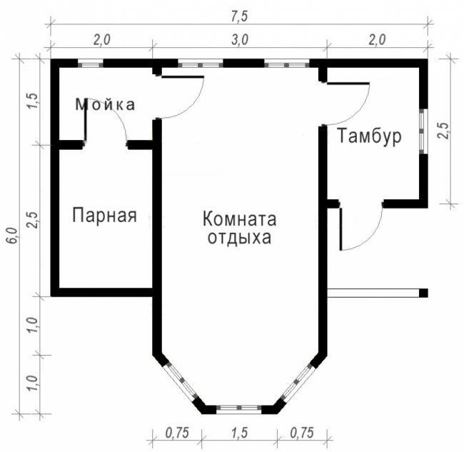 Проект бани-122