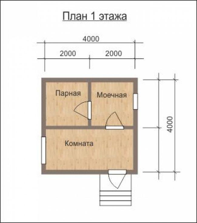 Проект бани-48