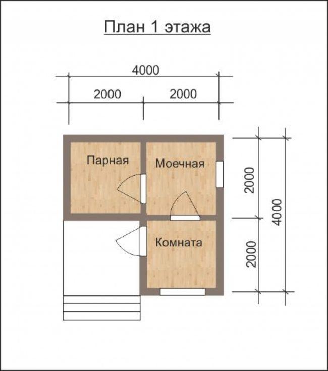 Проект бани-49