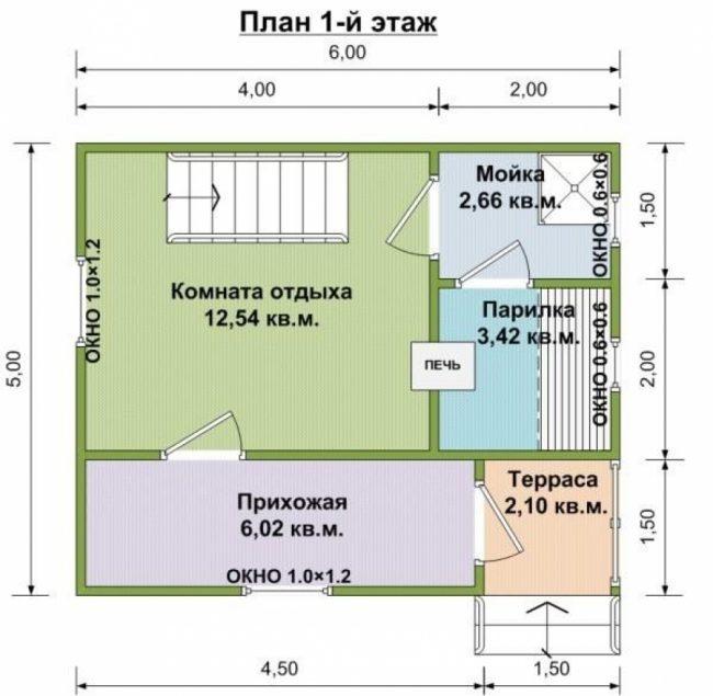 Проект бани-95