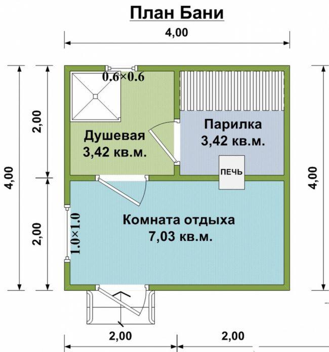 Проект бани-51