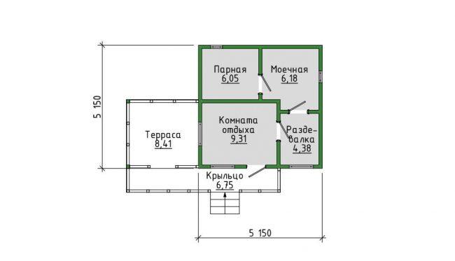 Проект бани-162