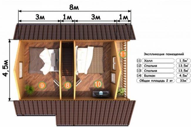 Проект бани-159