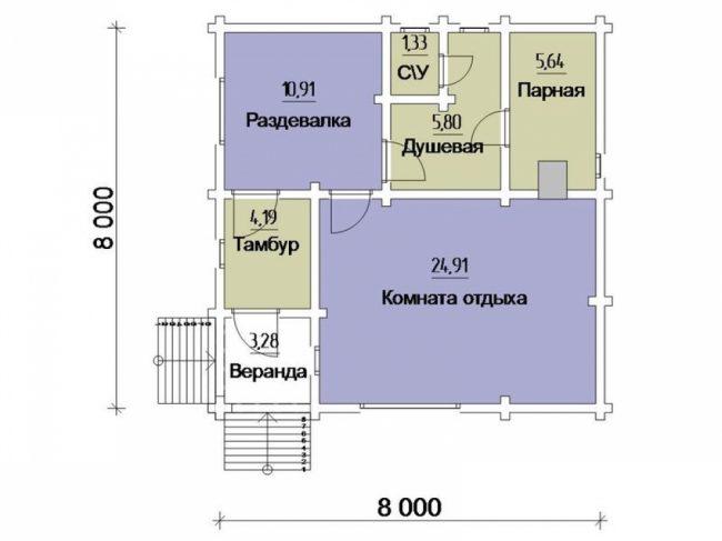 Проект бани-165