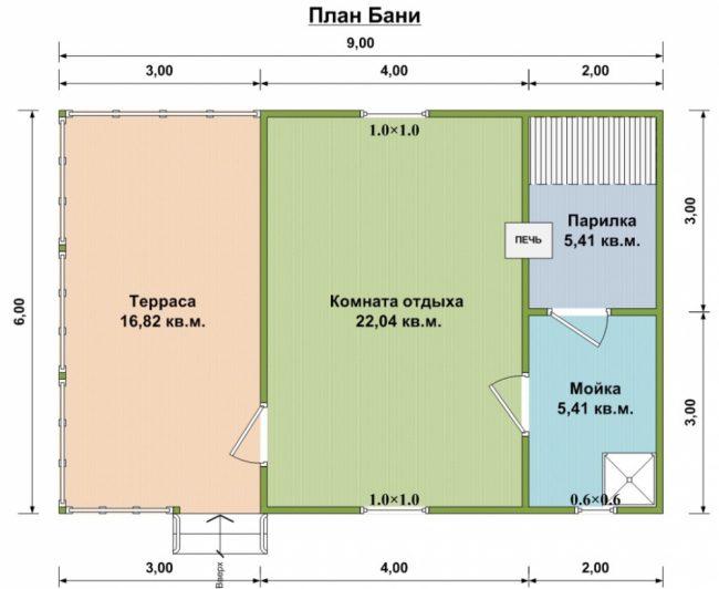 Проект бани-143