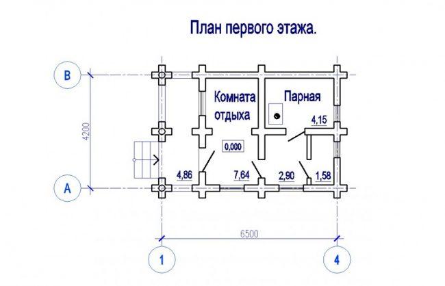 Проект бани-77