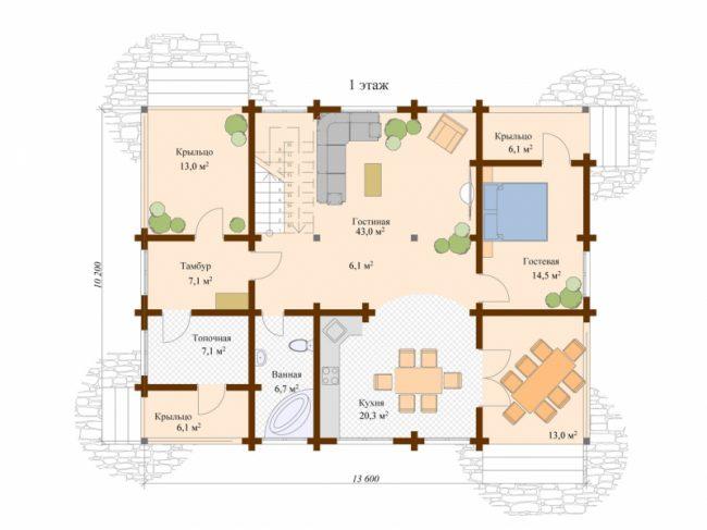 Проект дома №253