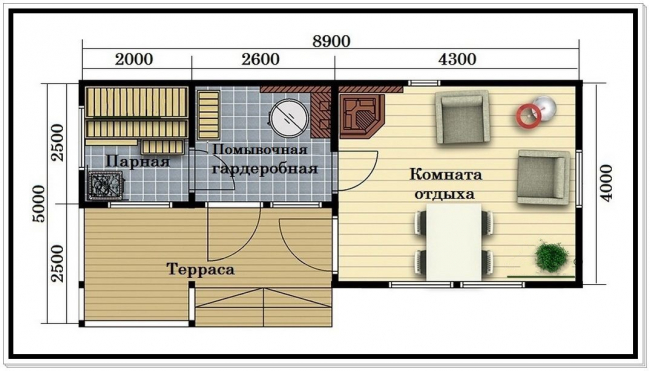 Проект бани-106