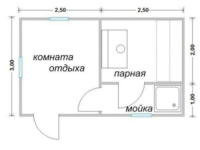 Проект бани-31