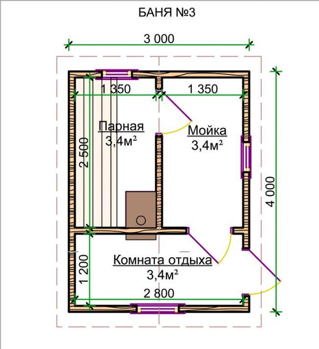Проект бани-25