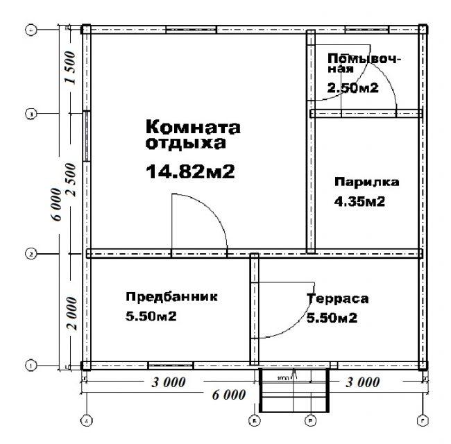 Проект бани-111