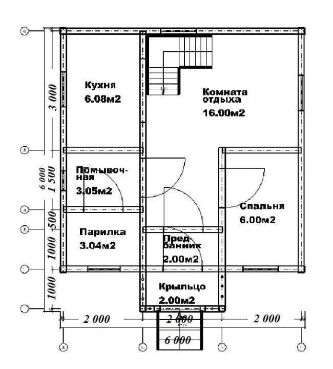 Проект бани-112