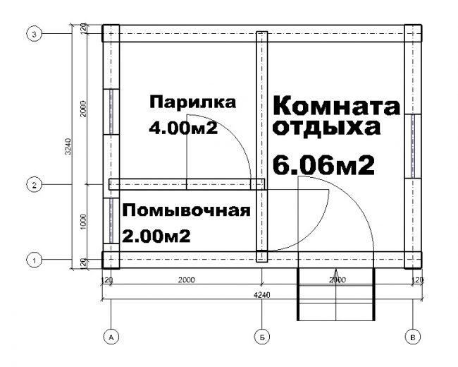 Проект бани-19