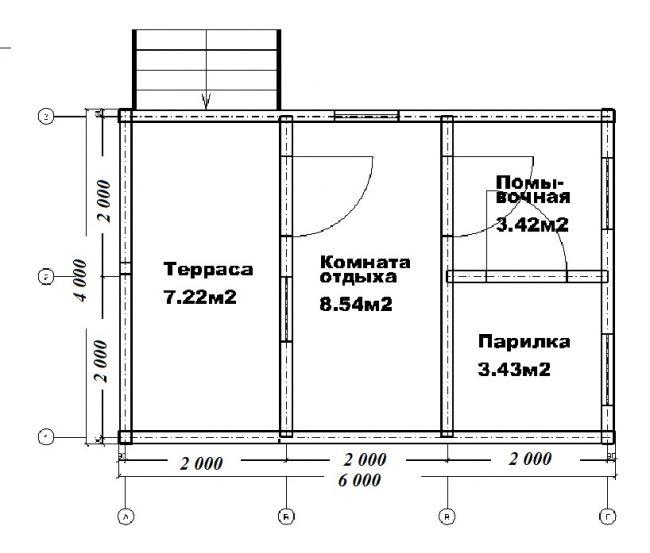 Проект бани-66