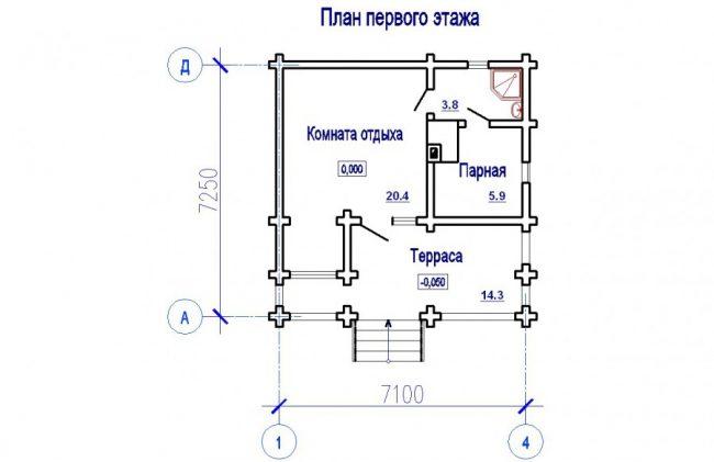 Проект бани-150