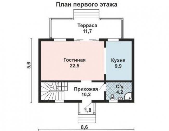 Проект дома №416