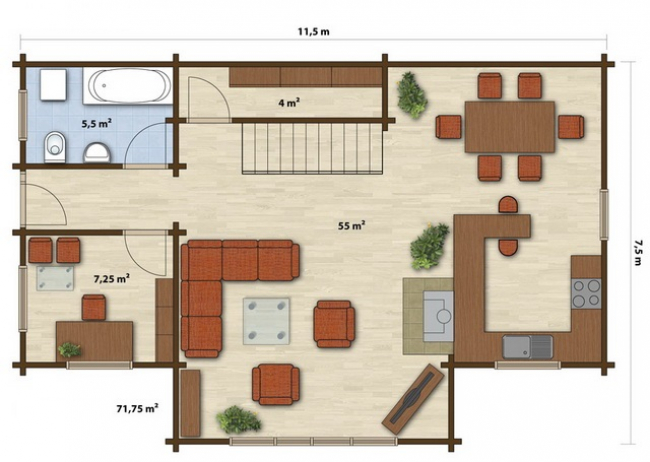 Проект дома №203