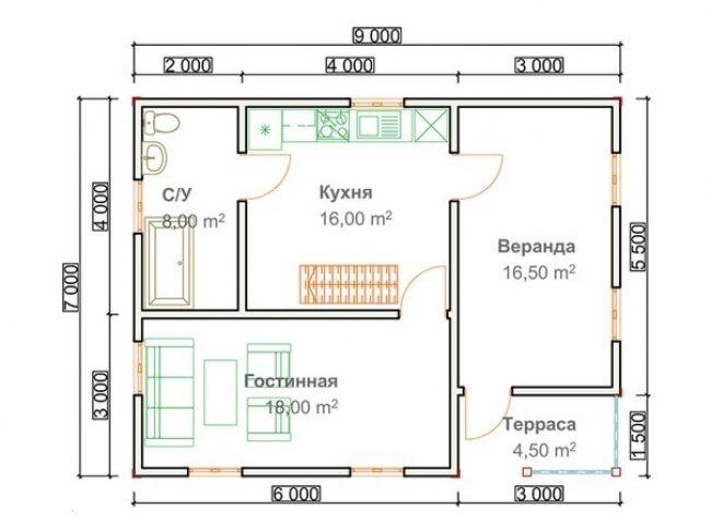 Проект дома №453