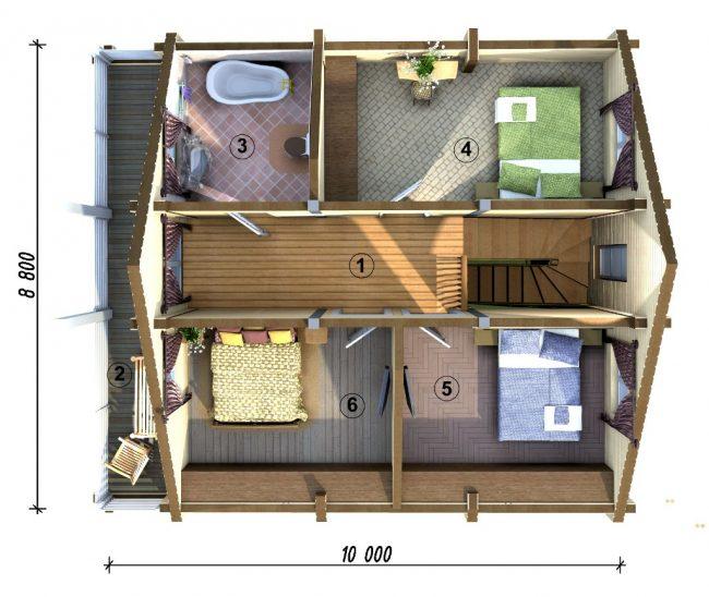 Проект дома №185