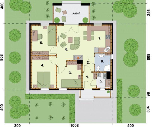 Проект дома №332
