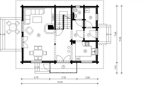Проект дома №517