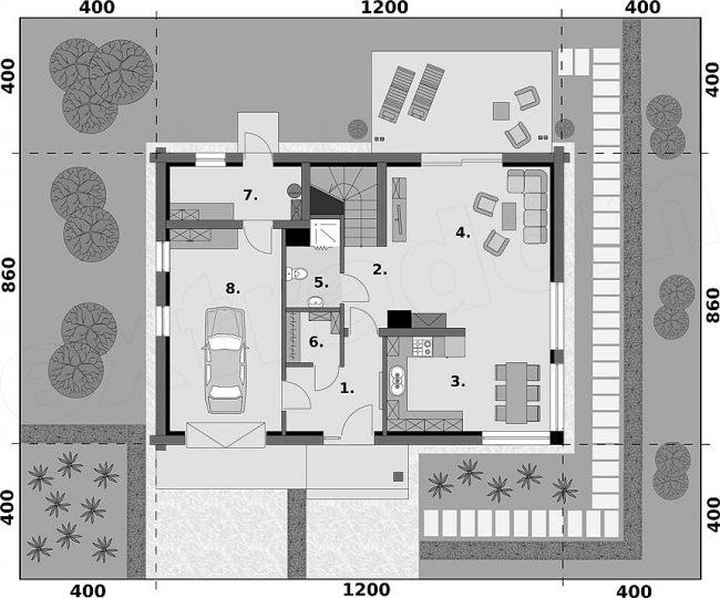 Проект дома №520