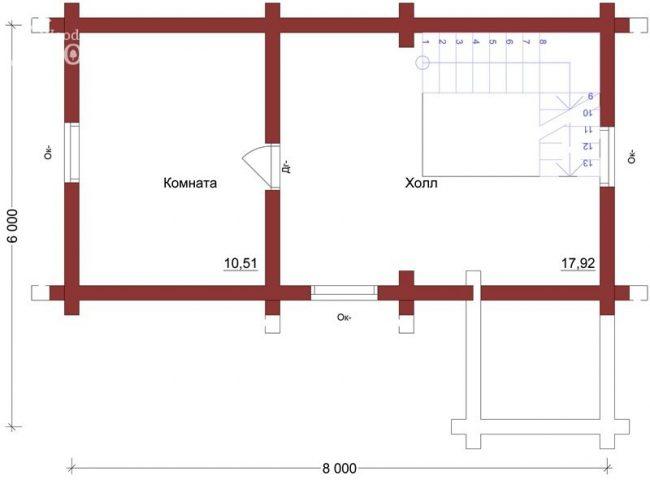 Проект дома №62