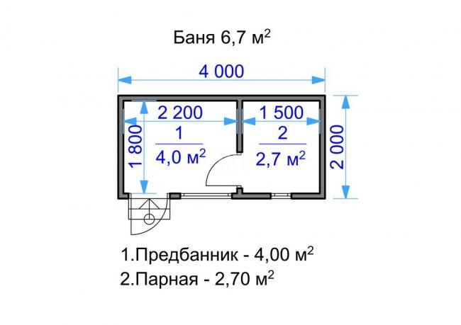 Проект бани-13