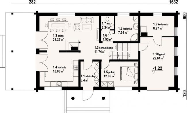 Проект дома №383