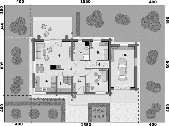 Проект дома №385