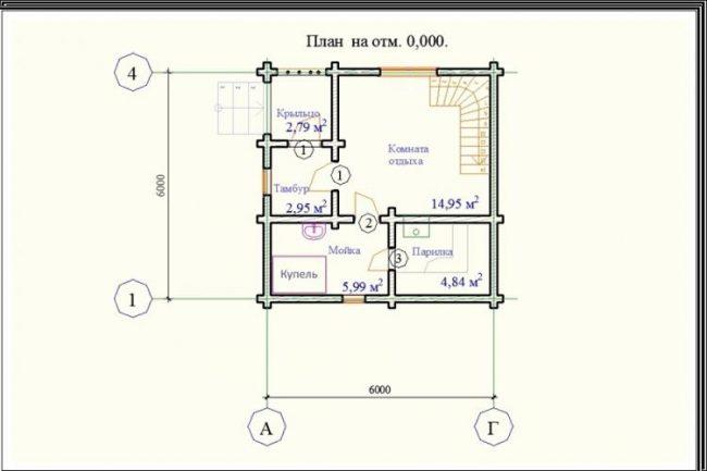 Проект бани-120