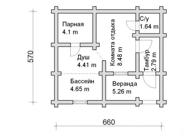Проект бани-128