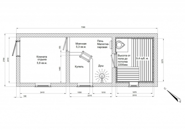 Проект бани-45