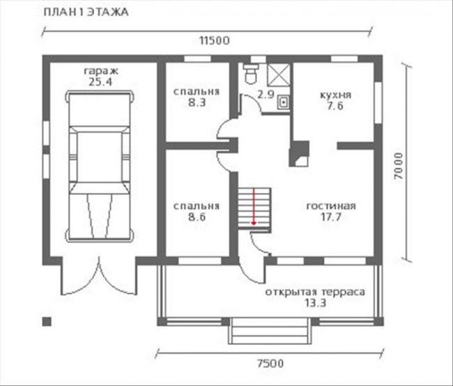 Проект дома №122