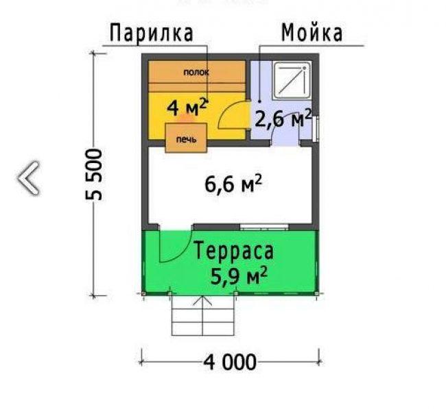 Проект бани-64