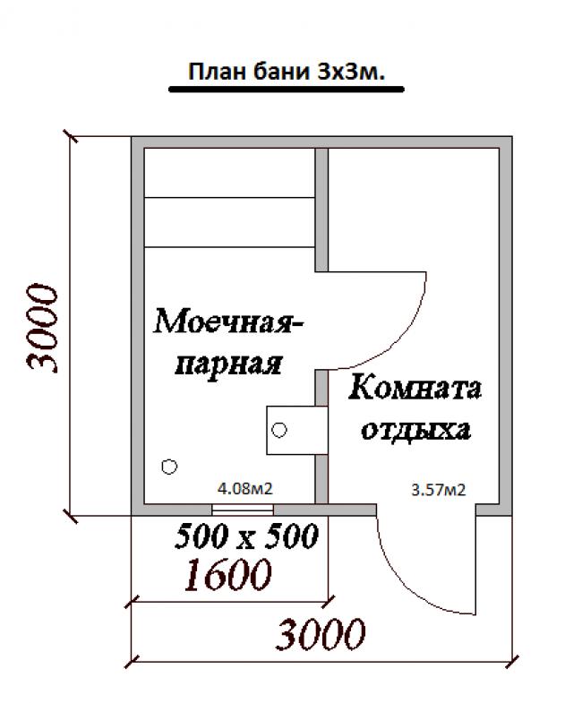 Проект бани-17