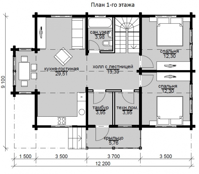 Проект дома №207