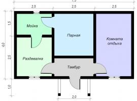 Проект бани-79