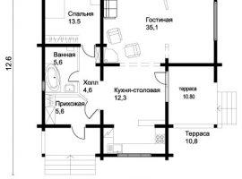 Проект дома №373