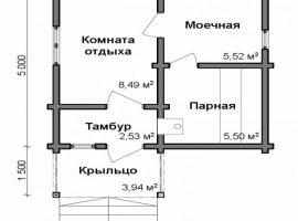Проект бани-80