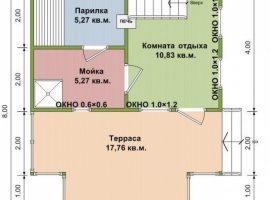 Проект бани-131