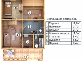 Проект бани-142