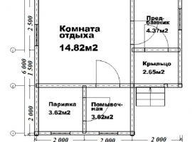 Проект бани-110