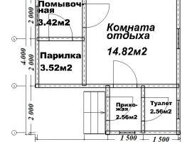 Проект бани-65